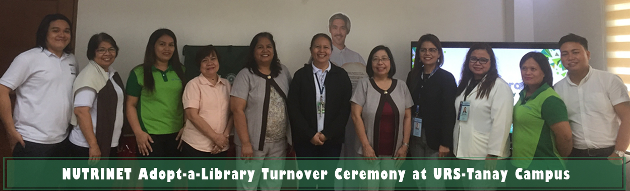 NUTRINET Adopt-A-Library Turnover Ceremony at URS-Tanay Campus